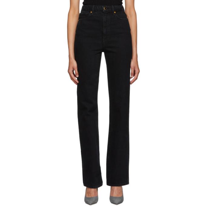 Khaite Black The Danielle Jeans