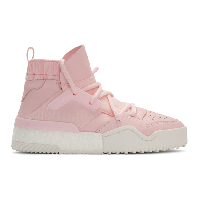 enorme sconto nuovo design stile moderno adidas Originals by Alexander Wang Pink B Ball High Top Sneakers ...
