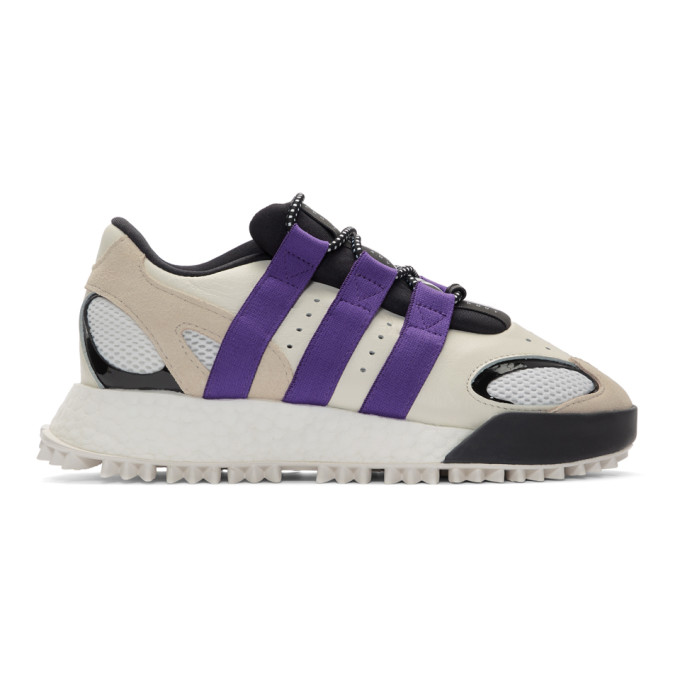 adidas Originals by Alexander Wang Off-White and Purple Wangbody Run Sneakers