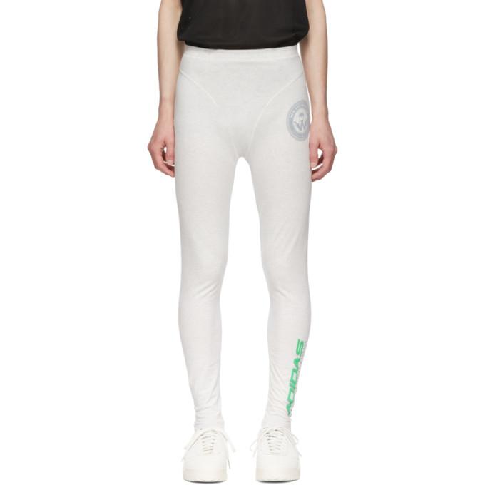ADIDAS ORIGINALS X ALEXANDER WANG | Adidas Originals By Alexander Wang Grey Graphic 80s Leggings | Goxip