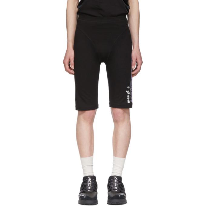 ADIDAS ORIGINALS X ALEXANDER WANG | Adidas Originals By Alexander Wang Black Graphic 80s Shorts | Goxip