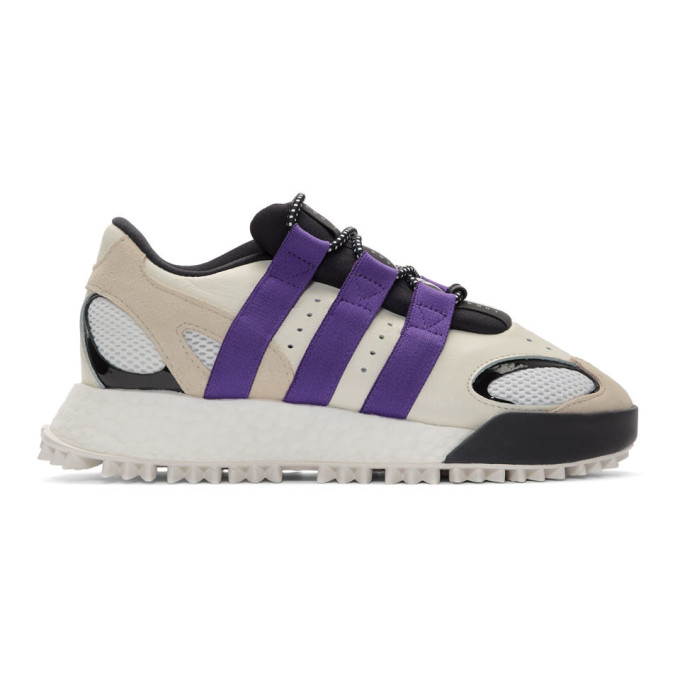 adidas Originals by Alexander Wang ホワイト and パープル Wangbody Run スニーカー