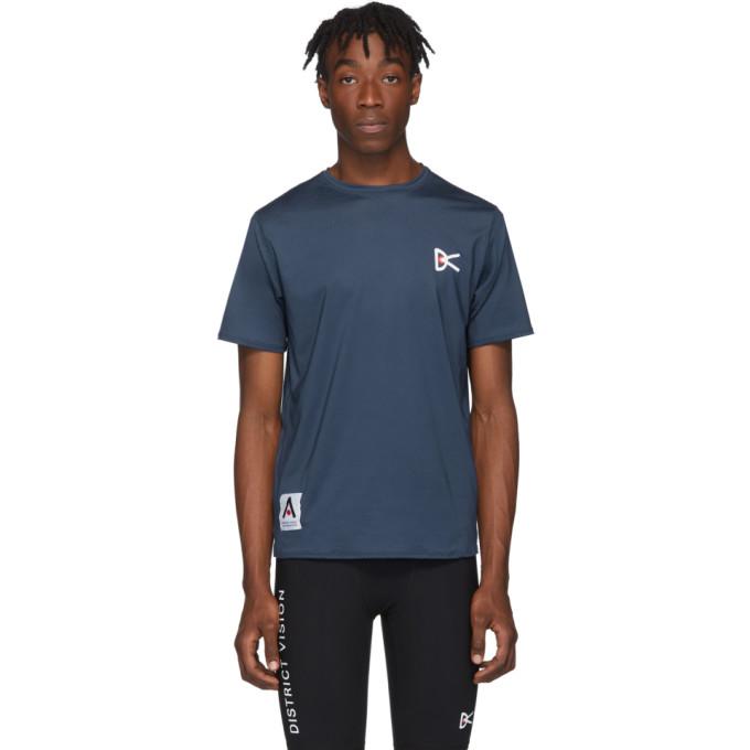 District Vision T-shirt bleu Air-Wear