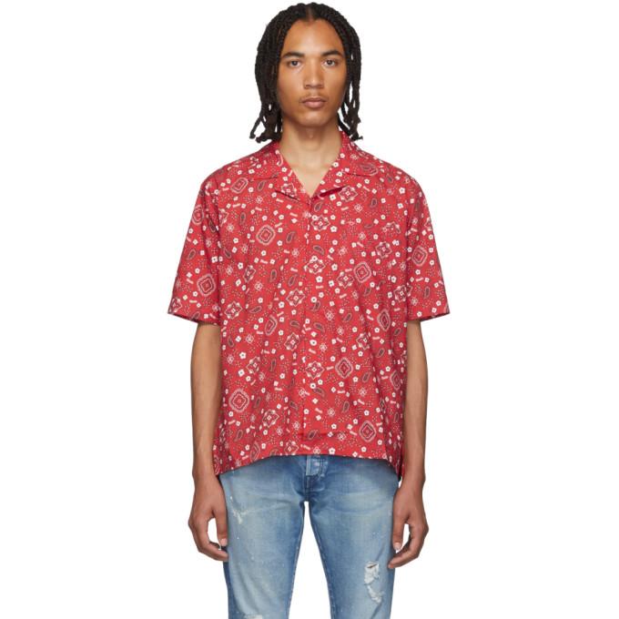 Rhude Chemise hawaienne rouge Bandana