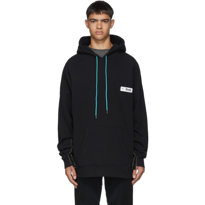Rhude Pull a capuche de survetement noir edition Puma