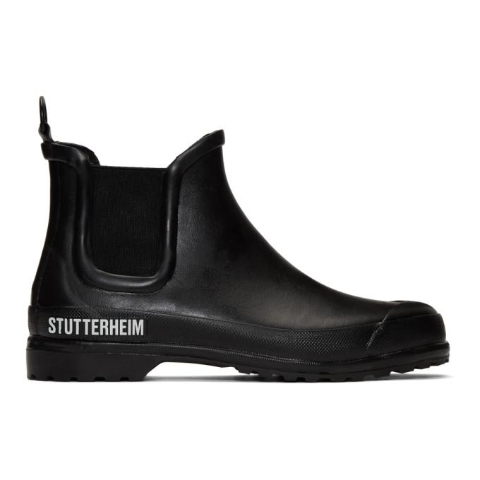 Stutterheim Bottes chelsea noires Rainwalker edition Novesta