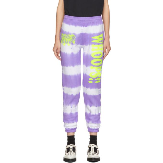 Ashley Williams Pantalon de survetement a motif tie-dye mauve Power Nap exclusif a SSENSE