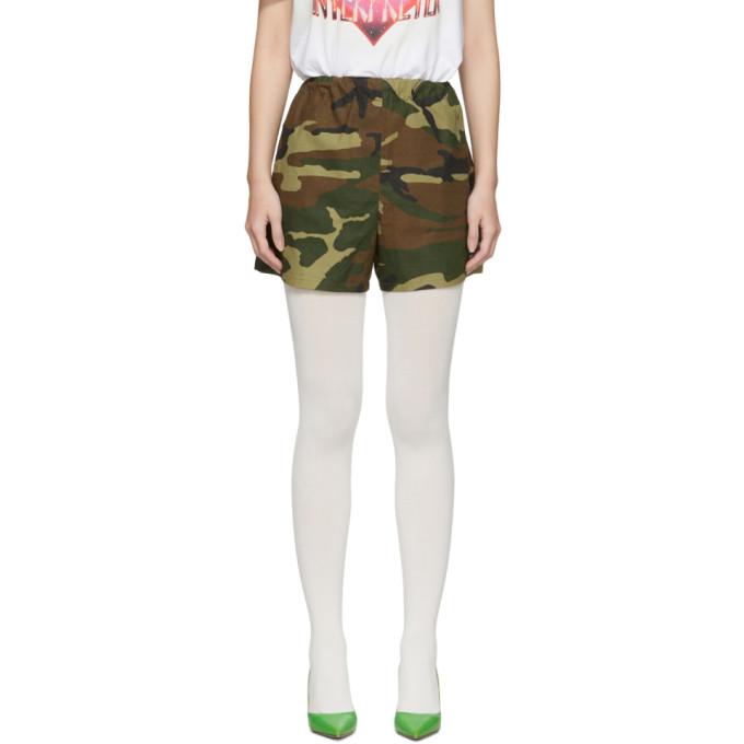 Ashley Williams Short a motif camouflage vert et brun Tropic exclusif a SSENSE