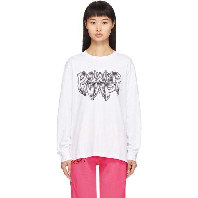 Ashley Williams T-shirt a manches longues blanc Power Nap