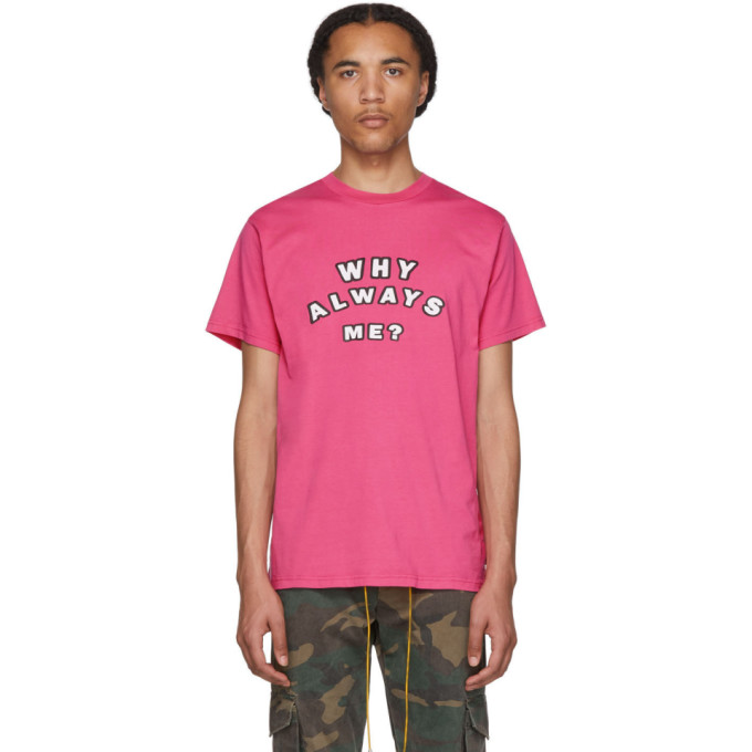 Resort Corps T-shirt rose Why Always Me