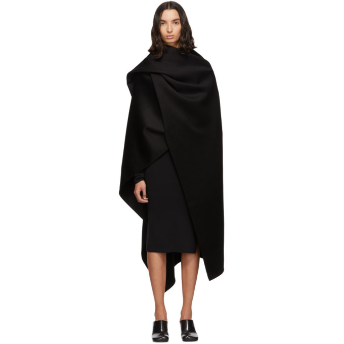 Joseph Black Quadro Double Face Cashmere Coat