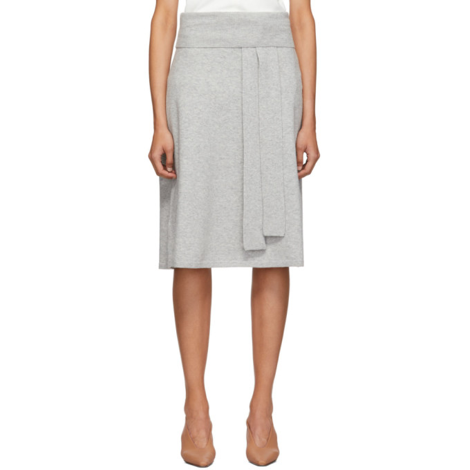 Joseph Grey Cosy Wool Knit Skirt
