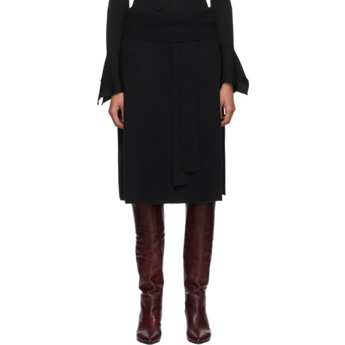 Joseph Black Cosy Wool Knit Skirt