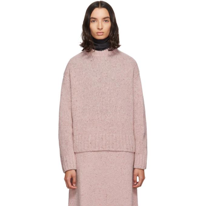 Joseph Pink Tweed Knit Sweater