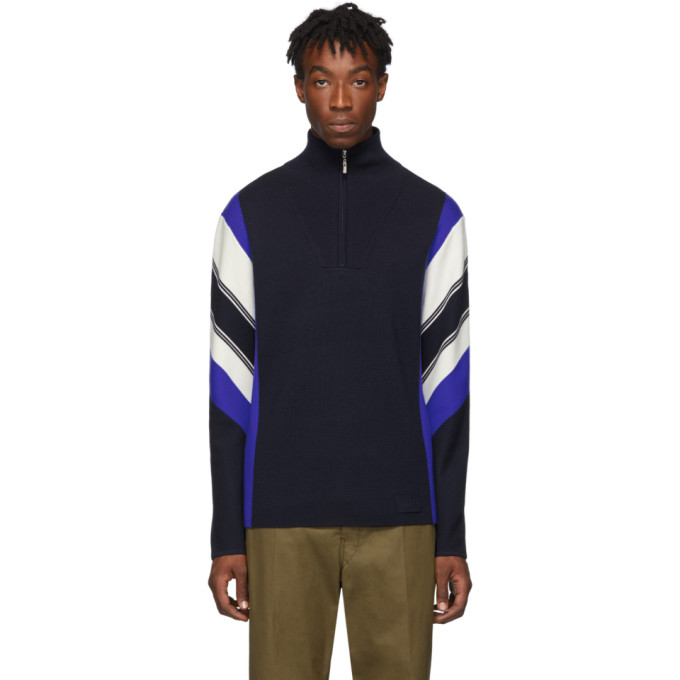 Joseph Navy Zip Neck Milano Sportswear Sweater