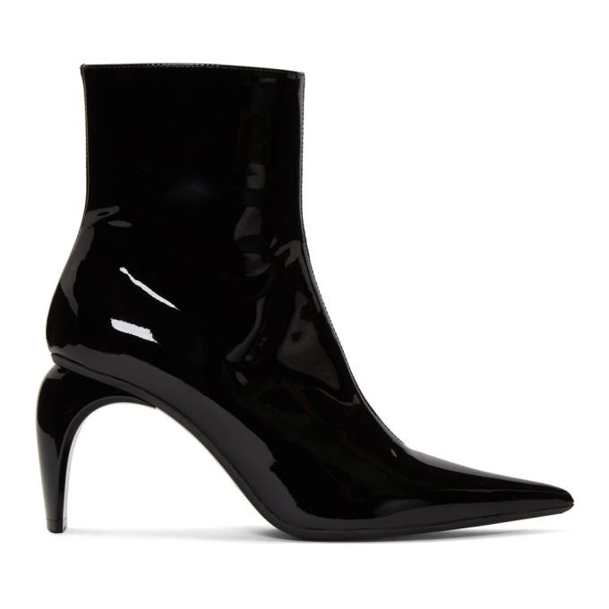MISBHV Black Vinyl Slicer Boots