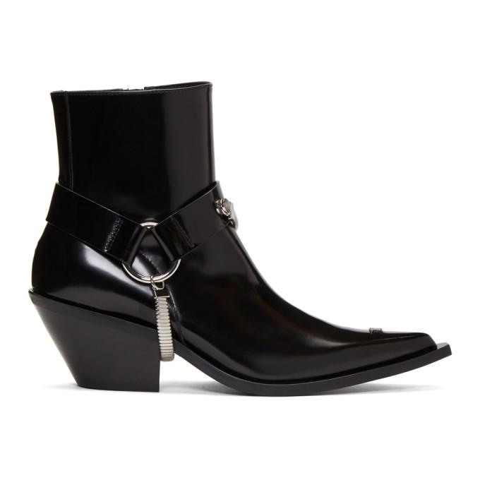 MISBHV Black Patent Cowboy Boots
