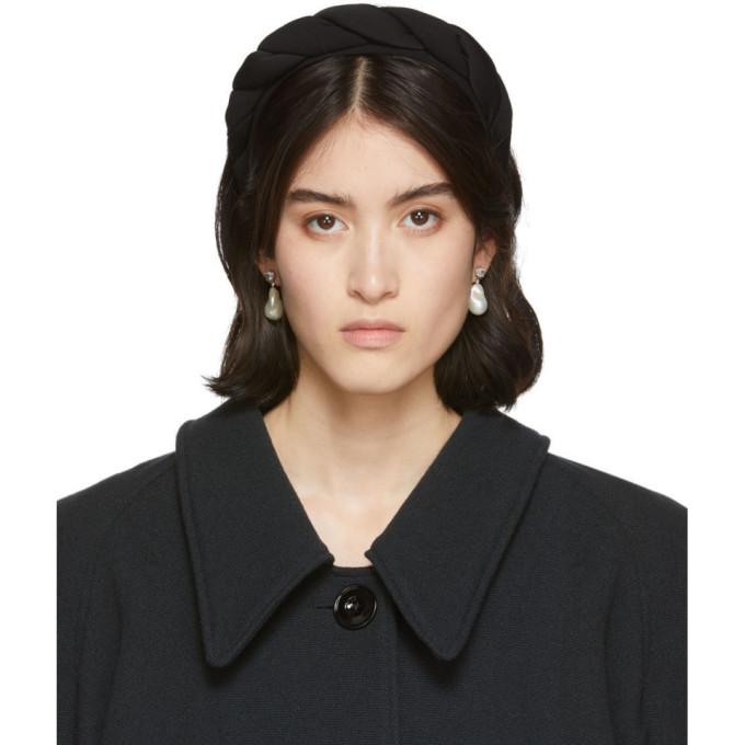 Sophie Buhai Bandeau torsade en soie noir Classic