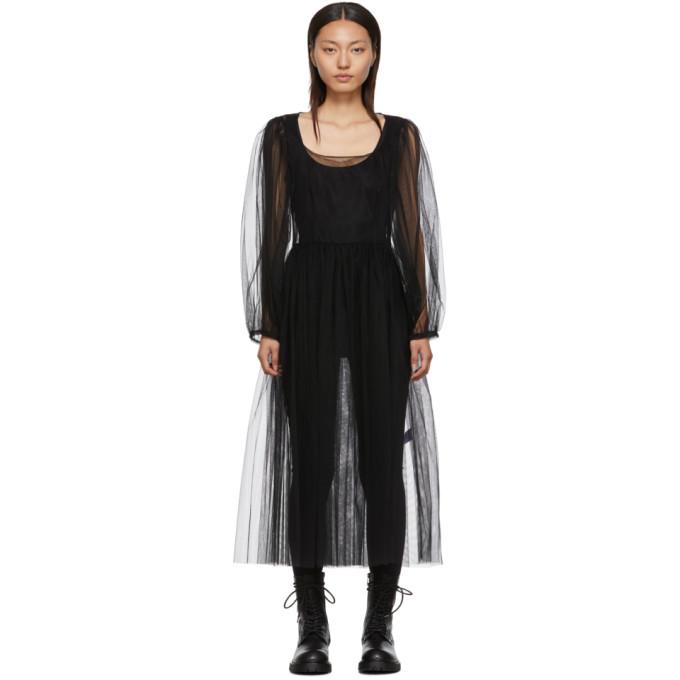 Molly Goddard Robe noire Bronwyn