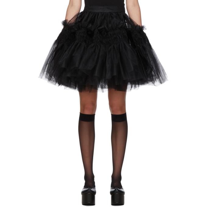 Molly Goddard Mini-jupe noire Saskia