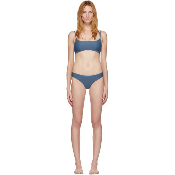 Matteau Bikini bleu Crop Top Classic Brief
