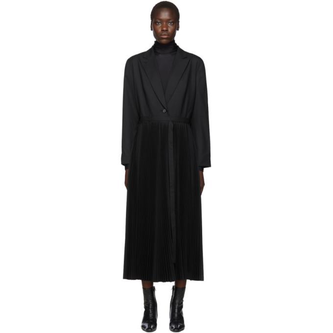 Chika Kisada Manteau plisse noir