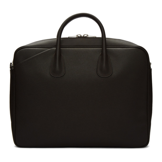 Valextra Brown Leather Briefcase