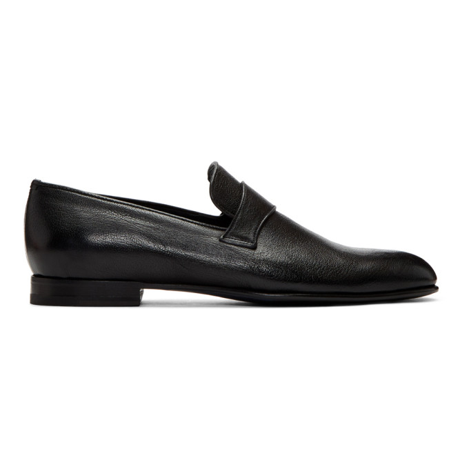 Brioni Black Penny Loafers