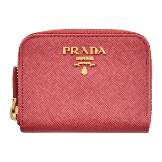 5ce8d1f2 Prada Pink Mini Zip Around Wallet 192962F04000601