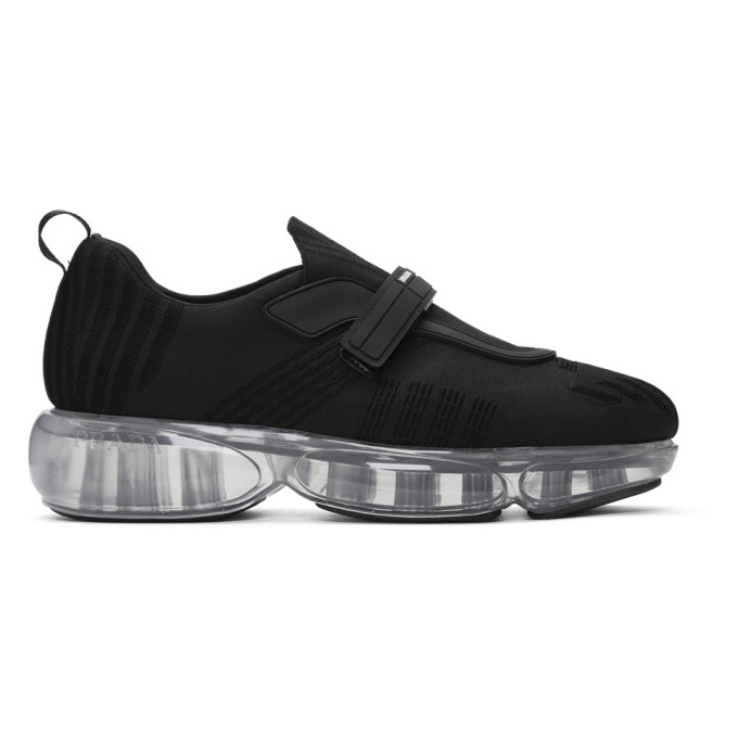 Prada Black Knit Clear Cloudbust Sneakers
