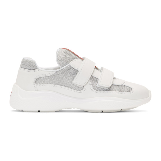 Prada White Mesh Sneakers