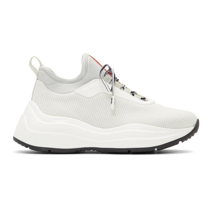 Prada White Chunky Sneakers