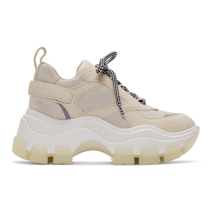 Prada Beige Oversized Chunky Sneakers