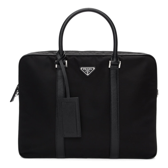 Prada Black Small Custmizable Briefcase
