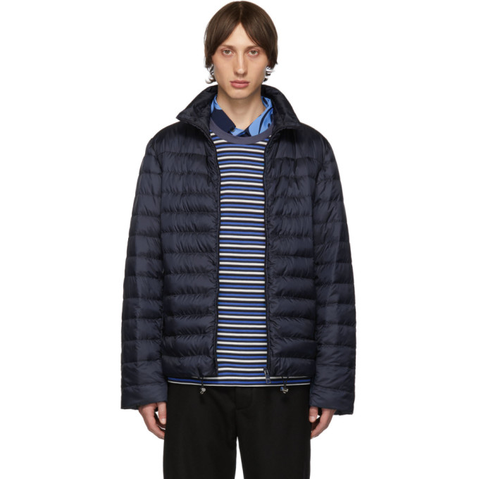 Prada Jackets PRADA NAVY DOWN 100 GRAMS HERRINGTON JACKET
