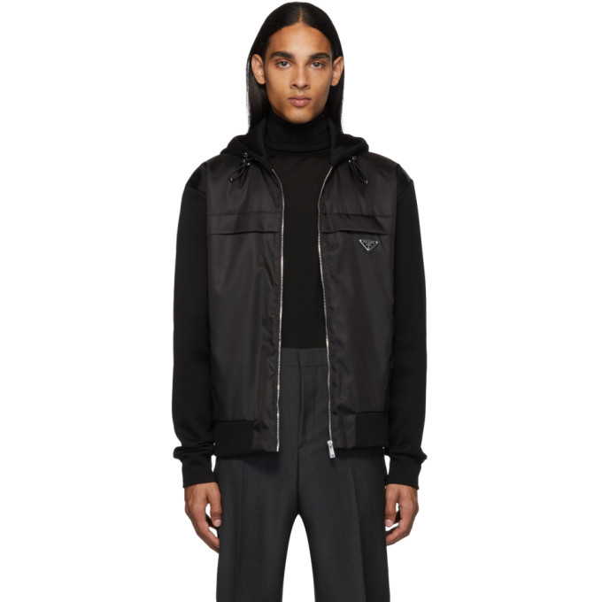 Prada Black Nylon Knit Jacket