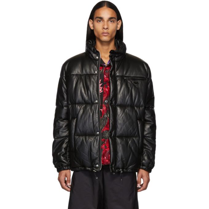Prada Black Light Down Nappa Jacket