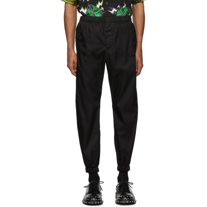 Prada Black Gabardine Trousers