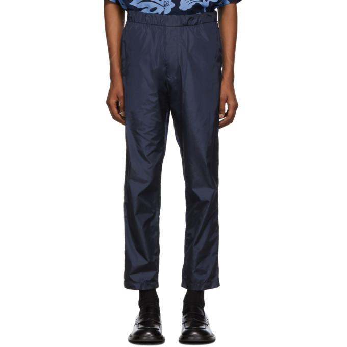 Prada Navy Elastic Waist Trousers