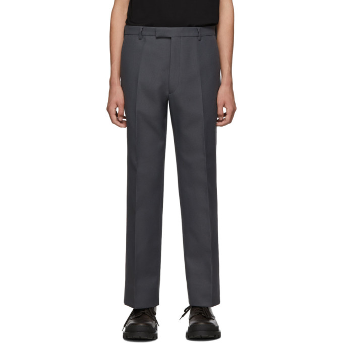 Prada Pants PRADA GREY CLASSIC FIT TROUSERS