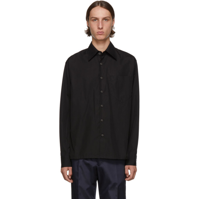 Prada Tops PRADA BLACK POCKET SHIRT
