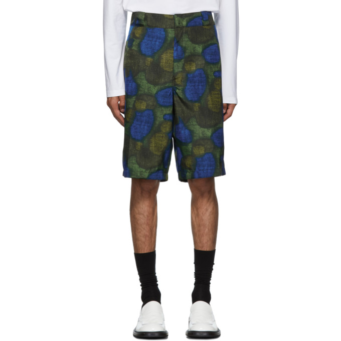 Prada Blue and Green Circle Shorts