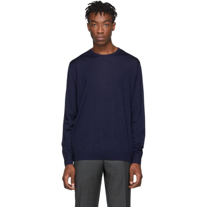 Prada ブルー ウール ライトウェイト セーター