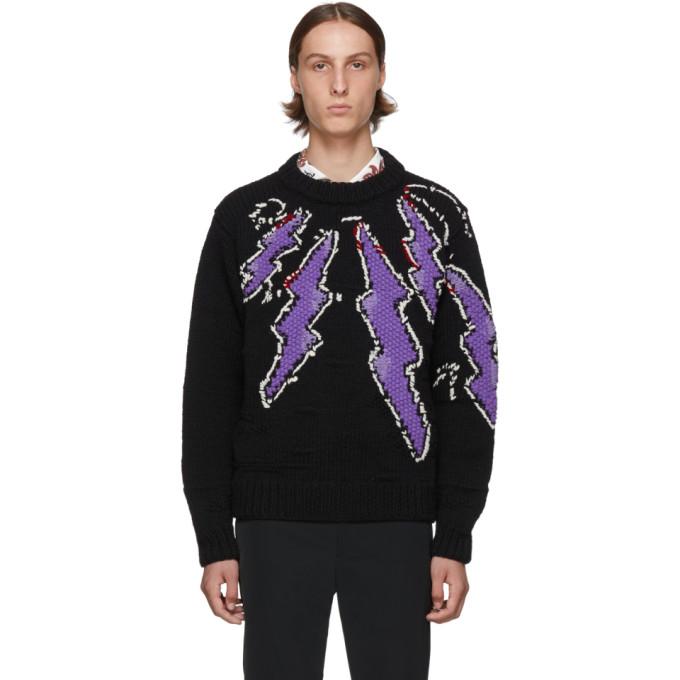 Prada Black Hand-Knit Runway Sweater