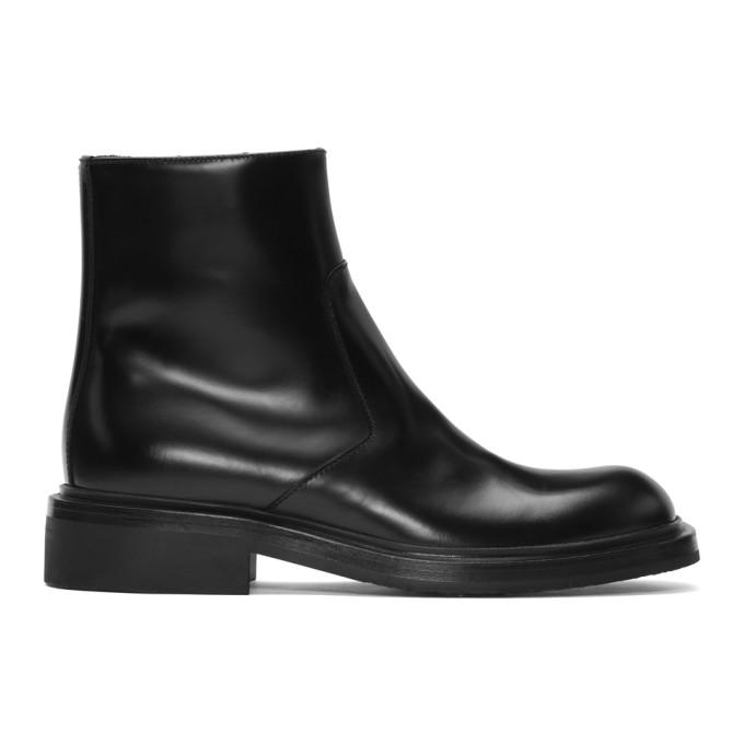 Prada Black Zip-Up Boots