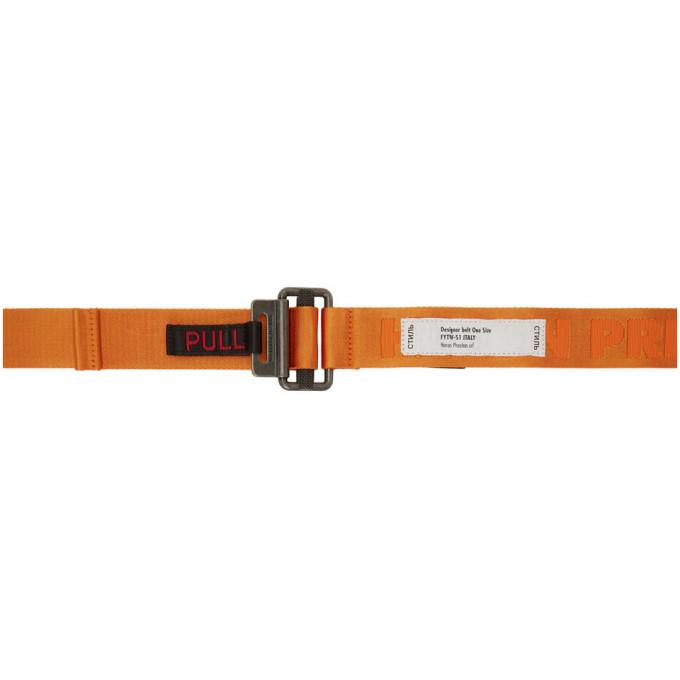Heron Preston Ceinture orange KK Tape