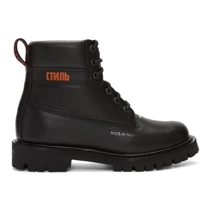 Heron Preston Black Worker Boots