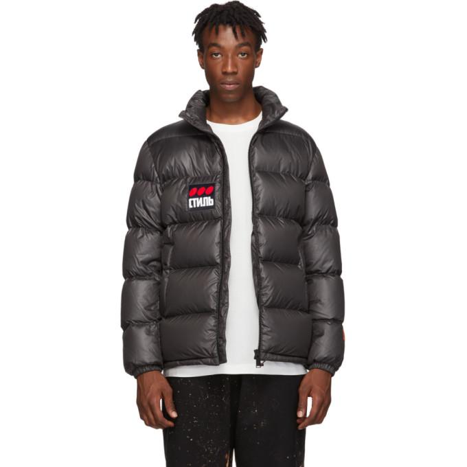 Heron Preston Black Down Style Puffer Jacket