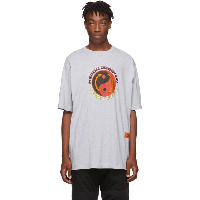 Heron Preston Grey Melange Tao T-Shirt