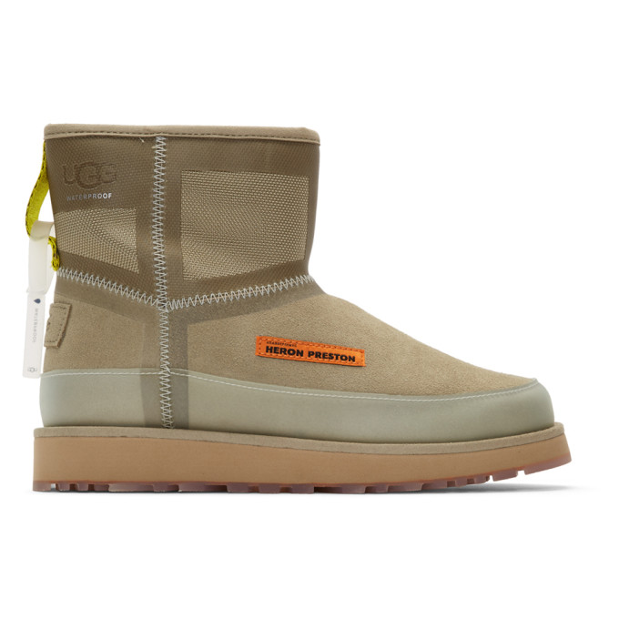 Heron Preston Beige UGG Edition Urban Tech Boots
